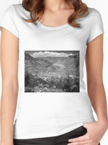 Beautiful Salt River Canyon ~ Black & White Women's Fitted Scoop T-Shirt