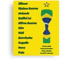 Brazil 1958 World Cup Final Winners Canvas Print