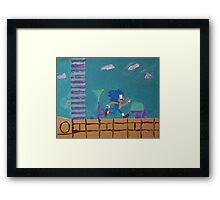 Aqua Lake Zone Framed Print