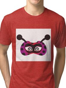 lady bird party mask face Tri-blend T-Shirt