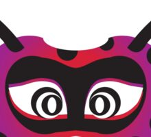lady bird party mask face Sticker