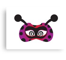 lady bird party mask face Canvas Print