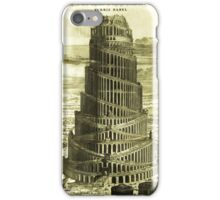 Tower of Babel, KIRCHER'S Turris Babel (1679) iPhone Case/Skin