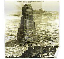 Tower of Babel, KIRCHER'S Turris Babel (1679) Poster