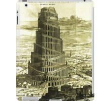 Tower of Babel, KIRCHER'S Turris Babel (1679) iPad Case/Skin