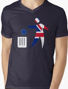 Toss the EU in the bin Mens V-Neck T-Shirt