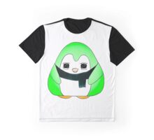 Minty Green Gum Drop Penguin Graphic T-Shirt