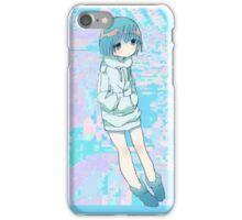 Blue Anime Girl iPhone Case/Skin