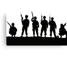 Army silhouette  Canvas Print