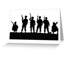 Army silhouette  Greeting Card