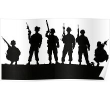 Army silhouette  Poster
