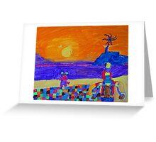 Sirena Beach Sunset Greeting Card