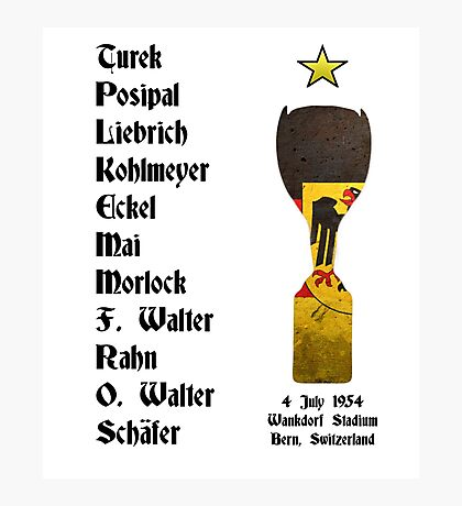 West Germany 1954 World Cup Final Winners Photographic Print