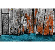 Old Wooden Barn Wall Photographic Print