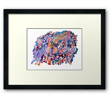 Watercolor Tie dye Framed Print