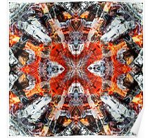 Fire - Abstract background pattern Poster