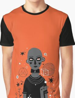Orange background Graphic T-Shirt