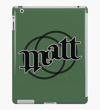 Matt ambigram iPad Case/Skin