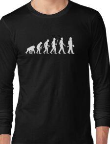 Funny Firefighter Evolution Shirt Long Sleeve T-Shirt