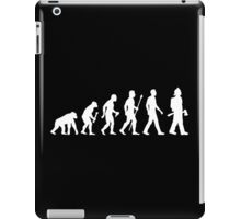 Funny Firefighter Evolution Shirt iPad Case/Skin