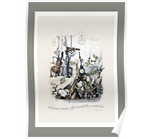 Without music, life would be a mistake.  Nietzsche and Grandville Poster