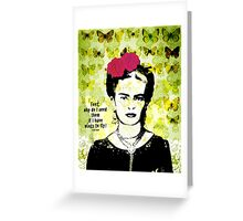 flying frida  Greeting Card