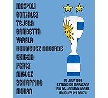 Uruguay 1950 World Cup Final Winners Photographic Print