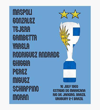 Uruguay 1950 World Cup Final Winners Photographic Print