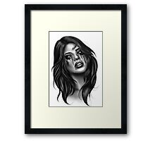Zombie girl  Framed Print