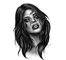 Zombie girl  Photographic Print