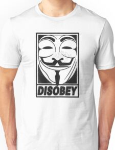 Guy Fawkes/Anonymous/V for Vendetta: DISOBEY Unisex T-Shirt
