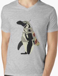 Rocket Penguin Mens V-Neck T-Shirt