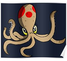Cheeky Octopus Poster