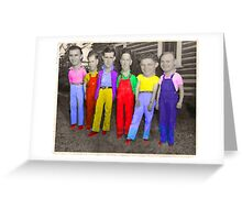 Red Shoes & Big Heads Greeting Card