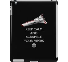 KEEP CALM AND SCRAMBLE YOUR VIPERS iPad Case/Skin