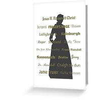 Claire silhouette  Greeting Card