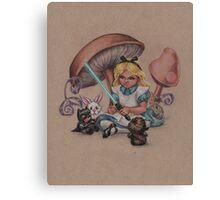 Alice in Fandomland (somewhere in Gaderen's Forest) Canvas Print