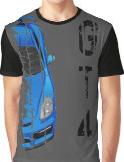 Porsche cayman GT4 (light blue) Graphic T-Shirt