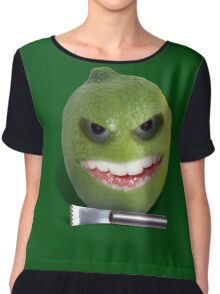 Beware the Lime with the Lemon Zester Chiffon Top
