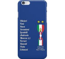 Italy 1938 World Cup Final Winners iPhone Case/Skin