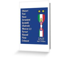 Italy 1938 World Cup Final Winners Greeting Card