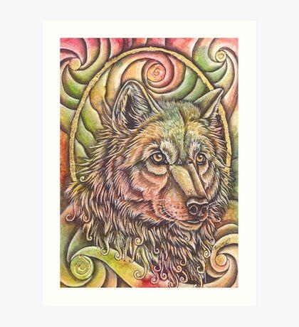 Golden III Art Print