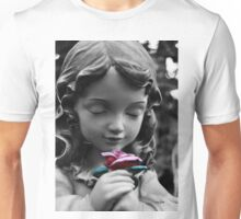 Girl with Rose II Unisex T-Shirt