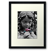 Girl with Rose II Framed Print