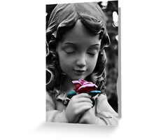 Girl with Rose II Greeting Card