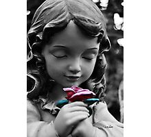 Girl with Rose II Photographic Print