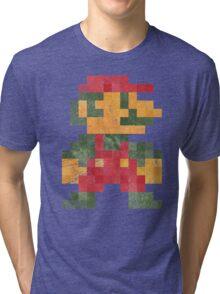 Mario Vintage Pixels Tri-blend T-Shirt