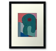 Cubic Shapes and Color Framed Print