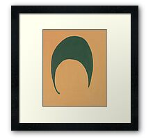 A Sliver of a Green Moon Framed Print