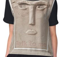 Talk to me (Ancient sculpture found in Petra) Chiffon Top